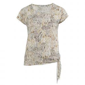 Enjoy t-shirt km devore zebra zand