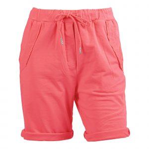 Enjoy korte broek uni koraal
