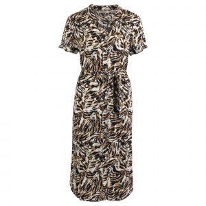 Enjoy jurk met print zwart