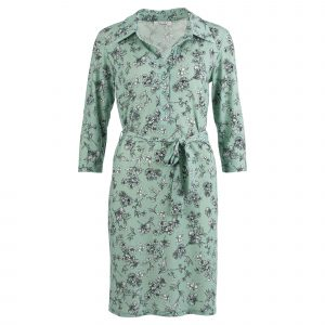 Enjoy jurk allover bloemenprint mint