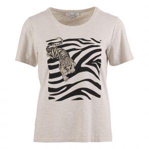 Enjoy t-shirt tijger zand