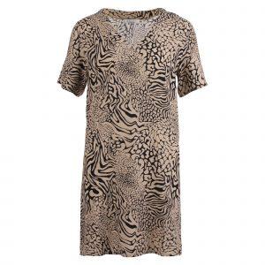 Enjoy jurk jurk v-hals k.m. allover print