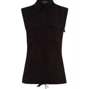 More&More Mouwloos blouse zwart