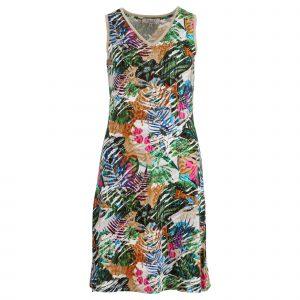 Enjoy jurk v-hals zm allover print