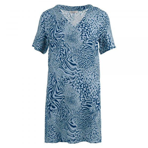 Enjoy jurk v-hals k.m. allover print