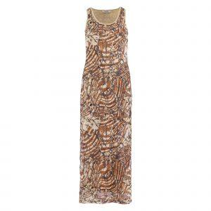 Enjoy jurk lang allover geprinte mesh