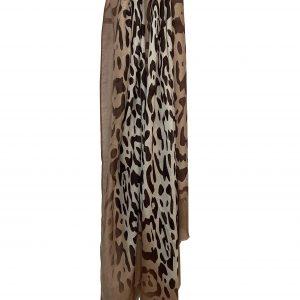 Sjaal panter licht bruin