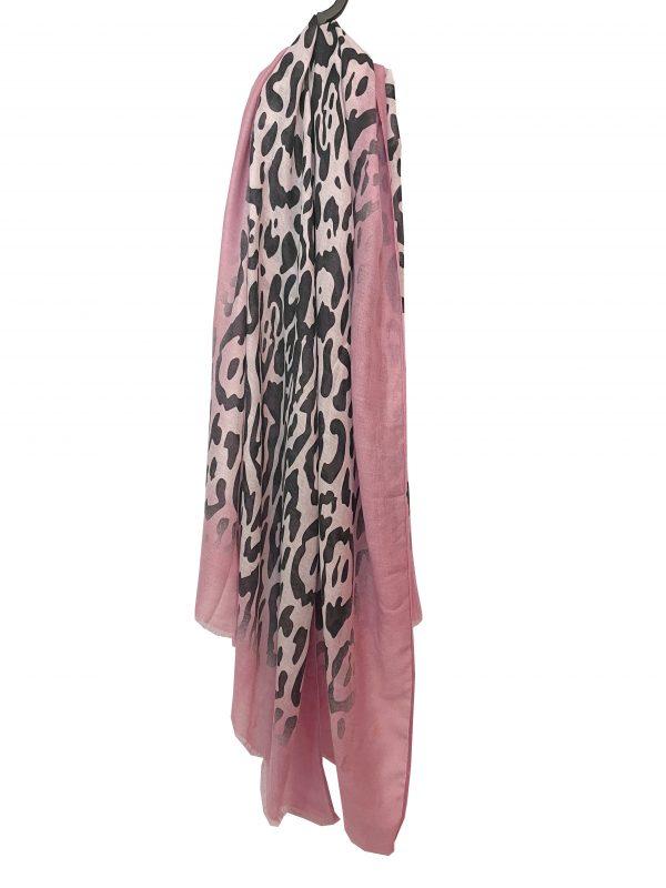 Sjaal panter roze