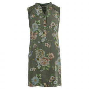 Enjoy jurk linnen bloemprint