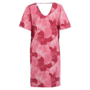 Enjoy jurk linnen dubbele v-hals allover print