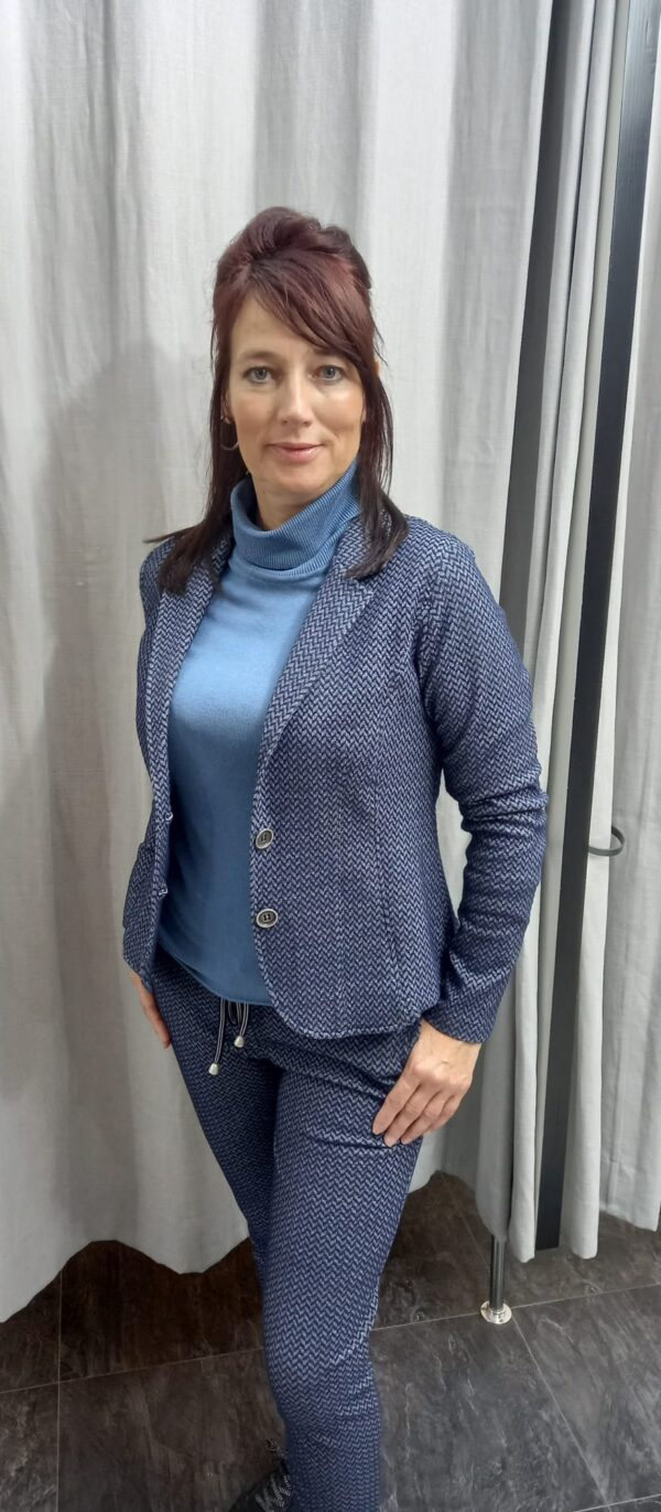 blazer set blauw